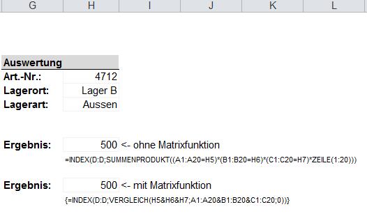 Verweis mit Suchkriterien in mehreren Spalten Excel Inside