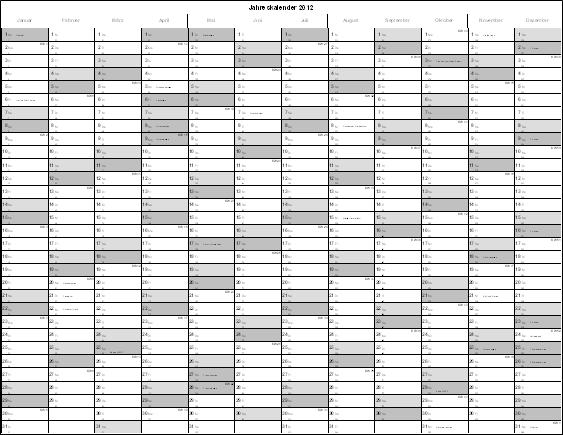 Excel-Inside Solutions - Excel Jahreskalender