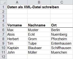 Xml Datei Per Vba Erzeugen Excel Inside Solutions