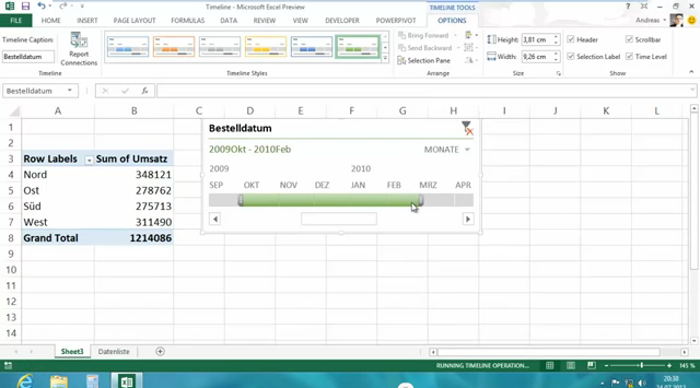Neue PivotTable Funktionen in Excel 2013
