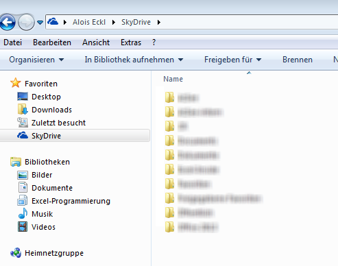 Zugriff auf SkyDrive direkt aus Windows mit Hilfe der SkyDrive App